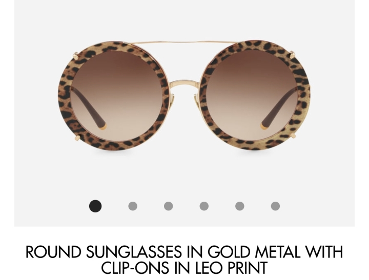 D&G retro interchangeable sunglasses