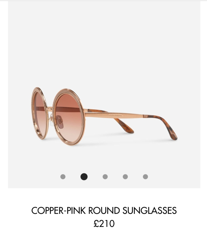 D&G round sunglasses