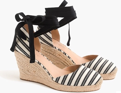 J.Crew Espadrille wedges with ankle strap