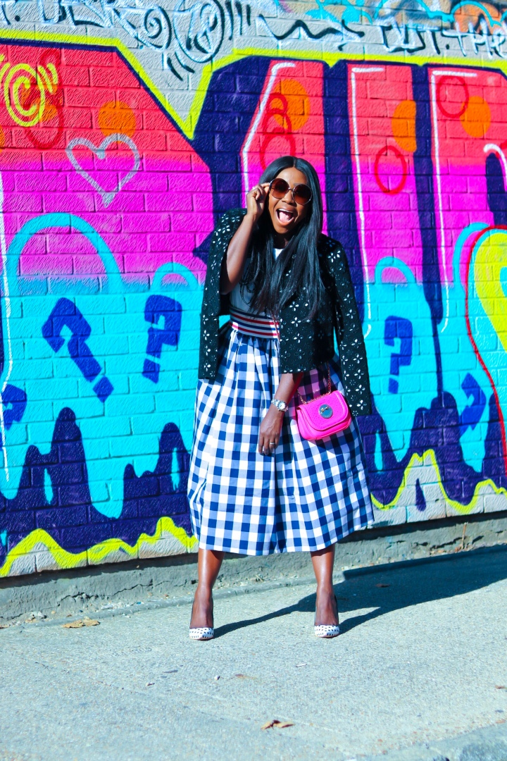 Make a bold skirt statement
